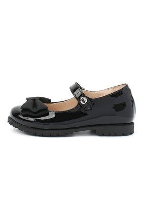Детские кожаные туфли WALKEY черного цвета, арт. Y1A3-40884-0149/25-29 | Фото 2