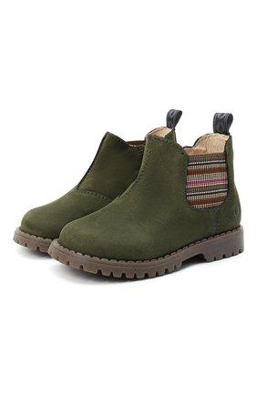 Детские замшевые ботинки WALKEY хаки цвета, арт. Y1B5-40846-0124/19-24 | Фото 1