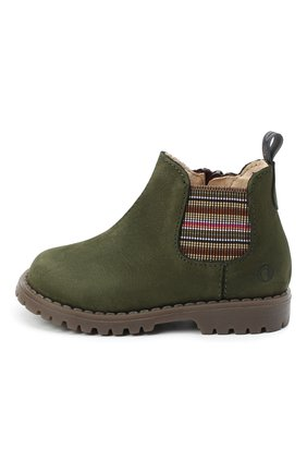 Детские замшевые ботинки WALKEY хаки цвета, арт. Y1B5-40846-0124/19-24 | Фото 2