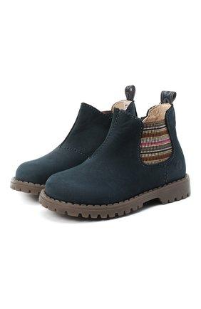 Детские замшевые ботинки WALKEY синего цвета, арт. Y1B5-40846-0124/19-24 | Фото 1