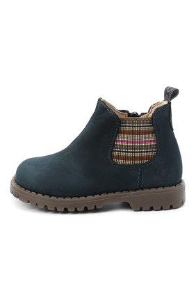 Детские замшевые ботинки WALKEY синего цвета, арт. Y1B5-40846-0124/19-24 | Фото 2