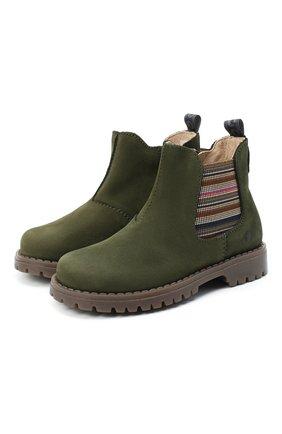 Детские замшевые ботинки WALKEY хаки цвета, арт. Y1B5-40846-0124/25-29 | Фото 1