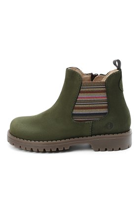 Детские замшевые ботинки WALKEY хаки цвета, арт. Y1B5-40846-0124/25-29 | Фото 2