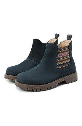 Детские замшевые ботинки WALKEY синего цвета, арт. Y1B5-40846-0124/25-29 | Фото 1