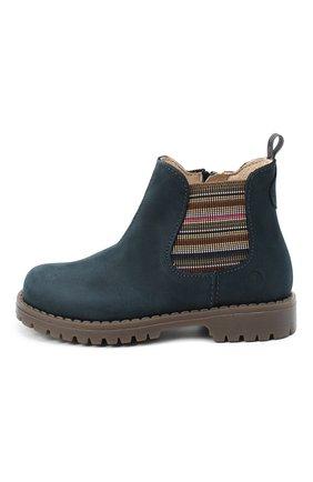 Детские замшевые ботинки WALKEY синего цвета, арт. Y1B5-40846-0124/25-29 | Фото 2