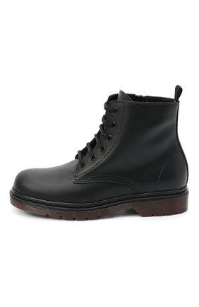 Детские кожаные ботинки IL GUFO черного цвета, арт. G389/VITELL0/31-34   Фото 2