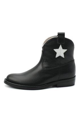 Детские кожаные ботинки IL GUFO черного цвета, арт. G474/VITELL0/27-30 | Фото 2