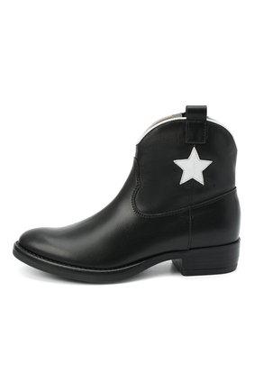Детские кожаные ботинки IL GUFO черного цвета, арт. G474/VITELL0/31-34 | Фото 2