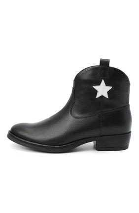 Детские кожаные ботинки IL GUFO черного цвета, арт. G474/VITELL0/35-42 | Фото 2