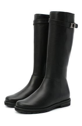 Детские кожаные сапоги IL GUFO черного цвета, арт. G500/VITELL0/27-30 | Фото 1