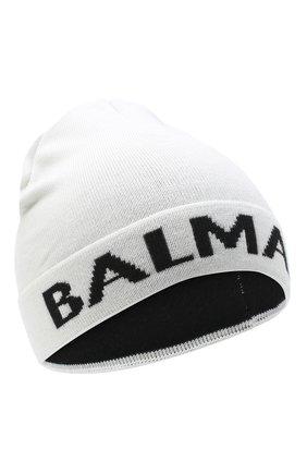 Детского шерстяная шапка BALMAIN белого цвета, арт. 6NA807/NA820 | Фото 1