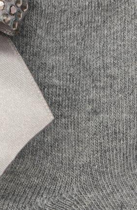 Детские хлопковые носки LA PERLA серого цвета, арт. 47049/1-2 | Фото 2
