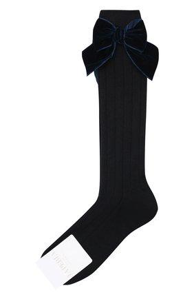 Детские хлопковые носки LA PERLA синего цвета, арт. 47872/3-6 | Фото 1