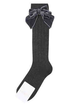 Детские хлопковые носки LA PERLA темно-серого цвета, арт. 47872/3-6 | Фото 1