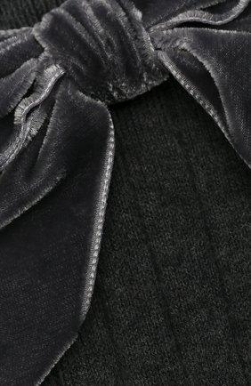 Детские хлопковые носки LA PERLA темно-серого цвета, арт. 47872/3-6 | Фото 2