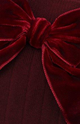 Детские хлопковые носки LA PERLA бордового цвета, арт. 47872/7-8 | Фото 2