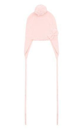 Детского шерстяная шапка BABY T светло-розового цвета, арт. 20AI104CU | Фото 1
