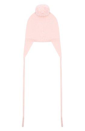 Детского шерстяная шапка BABY T светло-розового цвета, арт. 20AI104CU | Фото 2