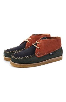 Детские замшевые ботинки ATLANTA MOCASSIN разноцветного цвета, арт. 9AT4AC073C3SBJ/28-34 | Фото 1