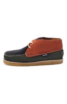 Детские замшевые ботинки ATLANTA MOCASSIN разноцветного цвета, арт. 9AT4AC073C3SBJ/28-34 | Фото 2