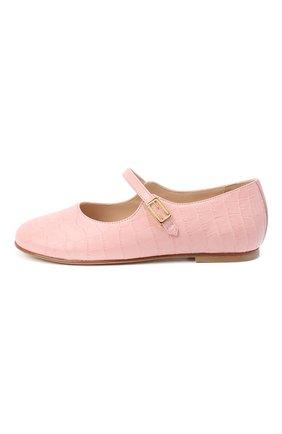 Детские кожаные туфли FENDI розового цвета, арт. JFR321/TC3/32-39 | Фото 2
