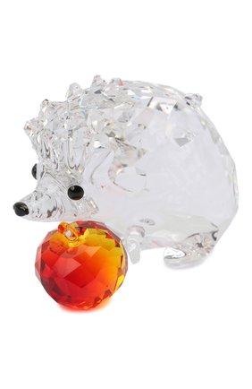 Мужского скульптура hedgehog with apple SWAROVSKI прозрачного цвета, арт. 5532203   Фото 2