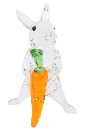 Мужского скульптура rabbit with carrot SWAROVSKI разноцветного цвета, арт. 5530687   Фото 1