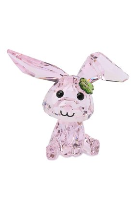 Скульптура lucky the rabbit SWAROVSKI розового цвета, арт. 5506811 | Фото 1