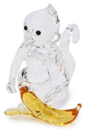 Мужского скульптура monkey with banana SWAROVSKI прозрачного цвета, арт. 5524239   Фото 1