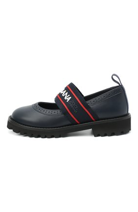 Детские кожаные туфли DOLCE & GABBANA синего цвета, арт. D10960/AW087/29-36 | Фото 2
