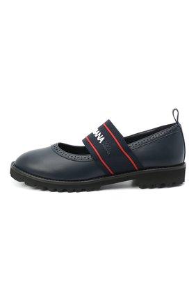 Детские кожаные туфли DOLCE & GABBANA синего цвета, арт. D10960/AW087/37-39 | Фото 2
