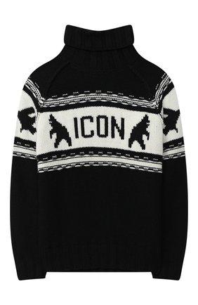Детский свитер DSQUARED2 черного цвета, арт. DQ04I5-D003E | Фото 1