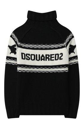 Детский свитер DSQUARED2 черного цвета, арт. DQ04I5-D003E | Фото 2