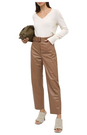 Женские кожаные мюли bv board BOTTEGA VENETA кремвого цвета, арт. 630179/VBP20 | Фото 2