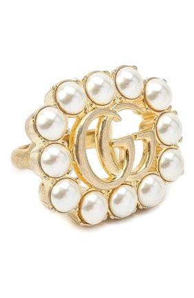 Женское кольцо GUCCI золотого цвета, арт. 632816/I4620   Фото 1 (Материал: Металл)