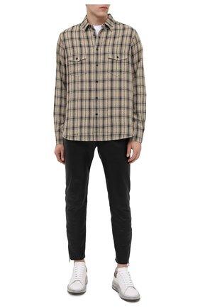 Мужские кожаные кеды ALEXANDER MCQUEEN белого цвета, арт. 604232/WHXMA | Фото 2