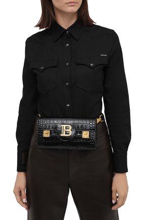 Женская поясная сумка b-buzz 23 BALMAIN черного цвета, арт. UN0S594/LVCW   Фото 2