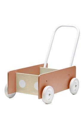 Детского игрушечная тележка-ходунки KID`S CONCEPT коричневого цвета, арт. 1000280 | Фото 1