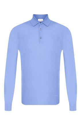 Мужское поло из кашемира и шелка BRIONI голубого цвета, арт. UMR30L/P9K28 | Фото 1