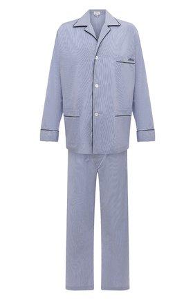 Мужская хлопковая пижама BRIONI синего цвета, арт. NBP30L/0905Q   Фото 1