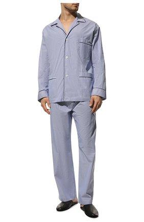 Мужская хлопковая пижама BRIONI синего цвета, арт. NBP30L/0905Q   Фото 2