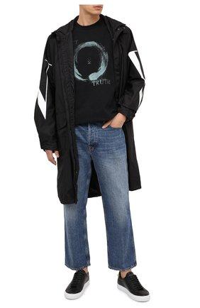 Мужские кожаные кеды GIVENCHY черного цвета, арт. BH0002H0NX | Фото 2