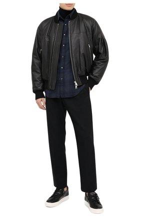 Мужские кожаные кеды frankie GIUSEPPE ZANOTTI DESIGN черного цвета, арт. RU00010/008 | Фото 2