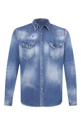 Мужская джинсовая рубашка PREMIUM MOOD DENIM SUPERIOR синего цвета, арт. F21 512CM1/LE0 DENIM | Фото 1