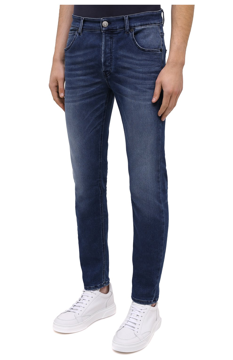 Мужские джинсы PREMIUM MOOD DENIM SUPERIOR темно-синего цвета, арт. F21 310337343/PAUL | Фото 3