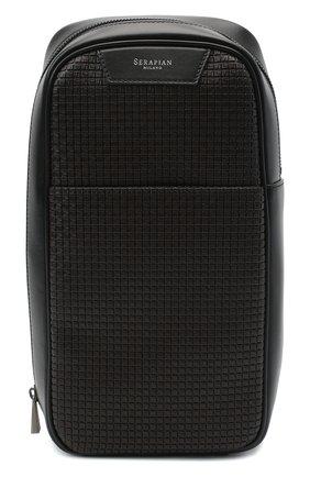 Мужской комбинированный рюкзак stepan SERAPIAN темно-коричневого цвета, арт. SSTEPMML7131M16A   Фото 1
