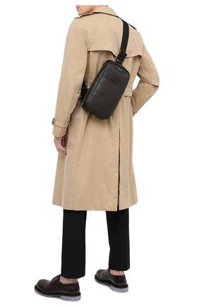 Мужской комбинированный рюкзак stepan SERAPIAN темно-коричневого цвета, арт. SSTEPMML7131M16A   Фото 2