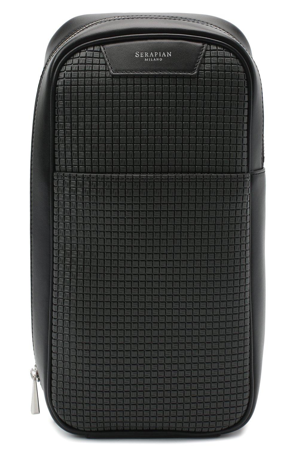 Мужской комбинированный рюкзак stepan SERAPIAN темно-серого цвета, арт. SSTEPMML7131M16A | Фото 1 (Материал: Натуральная кожа, Экокожа; Ремень/цепочка: На ремешке)