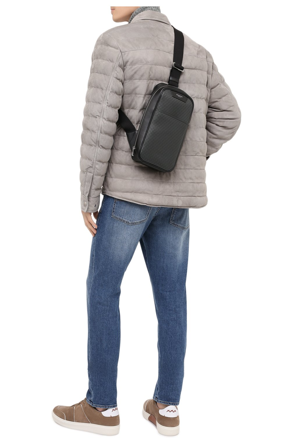 Мужской комбинированный рюкзак stepan SERAPIAN темно-серого цвета, арт. SSTEPMML7131M16A | Фото 2 (Материал: Натуральная кожа, Экокожа; Ремень/цепочка: На ремешке)