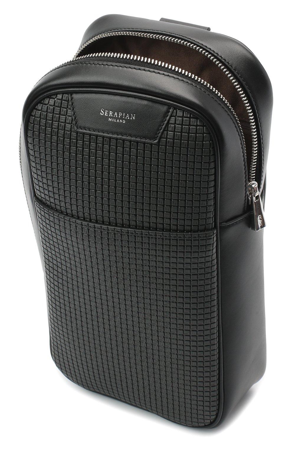 Мужской комбинированный рюкзак stepan SERAPIAN темно-серого цвета, арт. SSTEPMML7131M16A | Фото 4 (Материал: Натуральная кожа, Экокожа; Ремень/цепочка: На ремешке)
